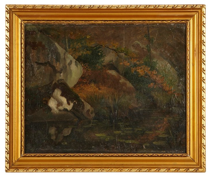 Oil Painting, Barbizon Forest