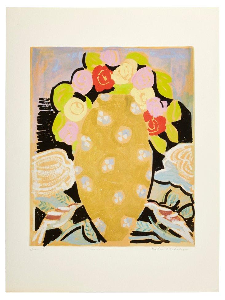 Pigment Print, Vase I
