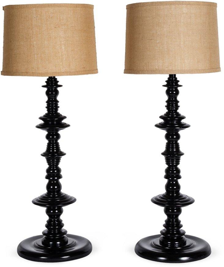 Ferret Table Lamp, Pair