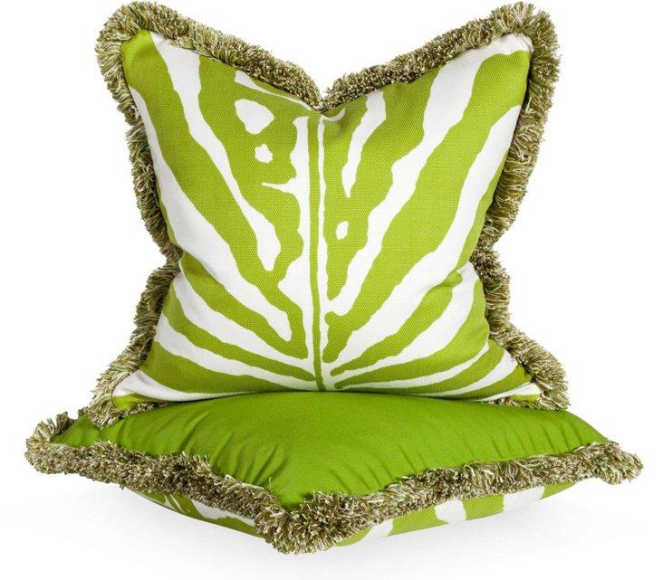 Zebra Pillows, Pair