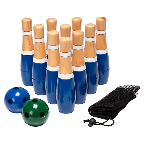 "8"" Wooden Bowling Set"