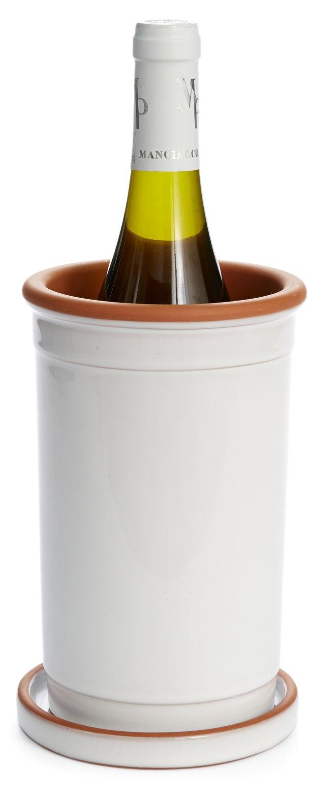 Terracotta Wine Cooler w/ Saucer