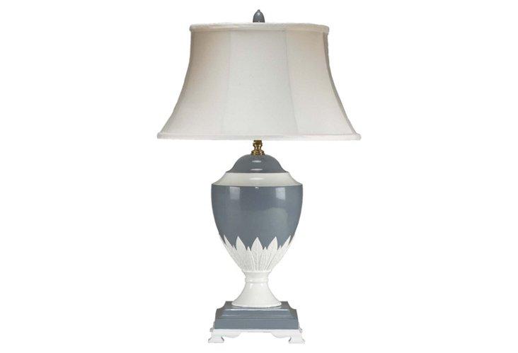 The Regent Porcelain Lamp, Flannel Gray