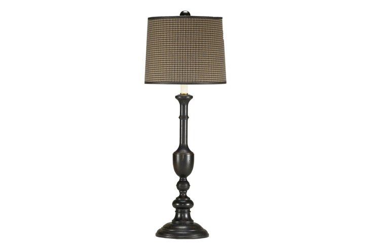 Cooper Table Lamp, Houndstooth Shade