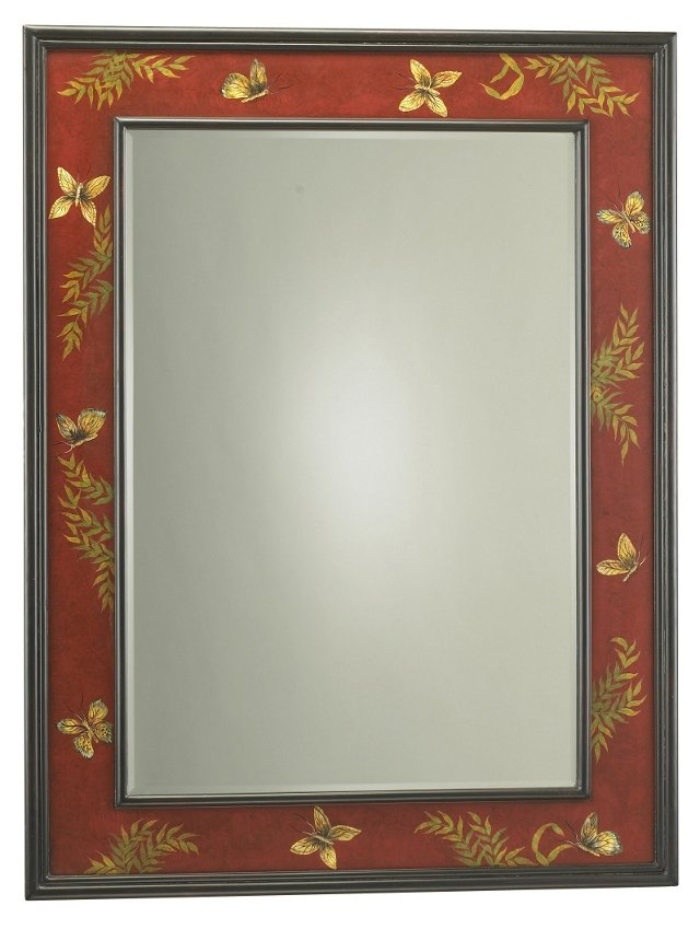 Butterfly Beveled Mirror