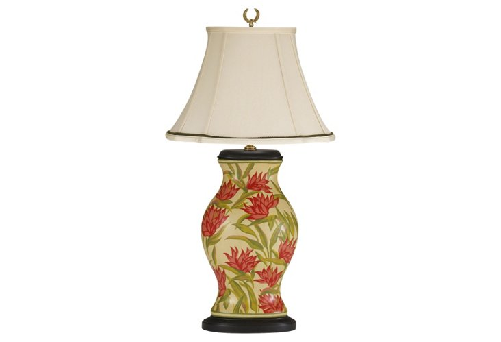 Bird of Paradise Porcelain Lamp