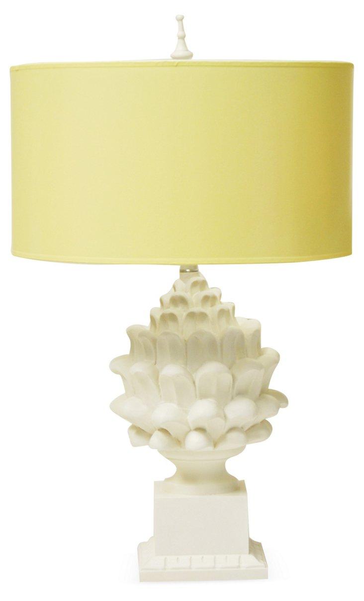 Artichoke Table Lamp, Churned Butter