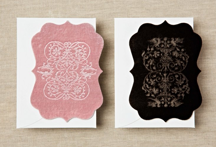 S/6 Echocards, Pink & Chocolate