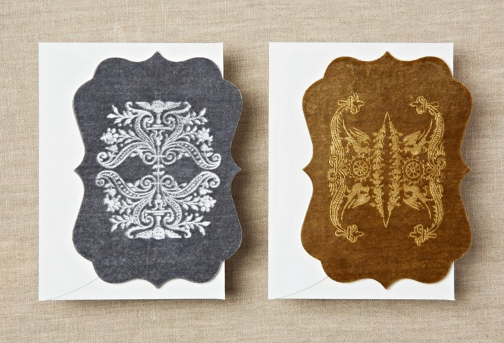S/6 Echocards, Gold & Dove