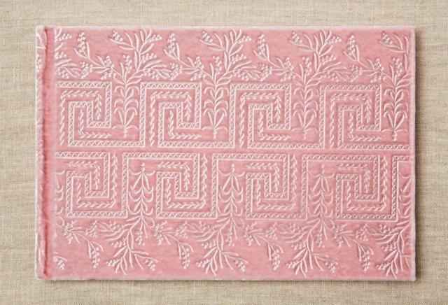 Greek Floral Guest Journal, Pink