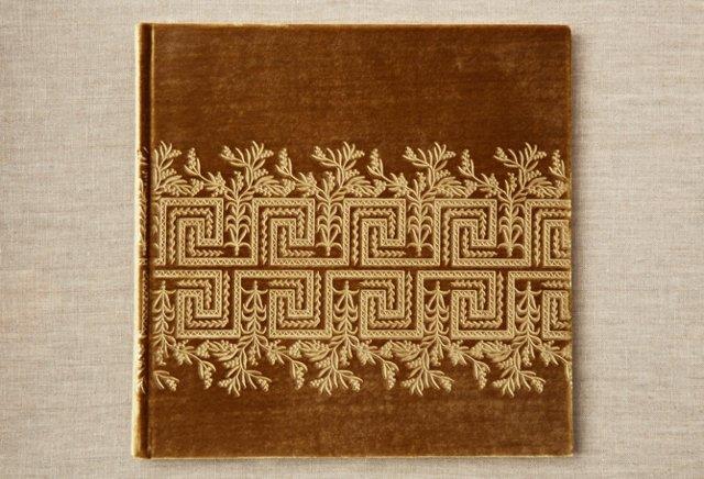 "10"" Greek Floral Photo Album, Gold"