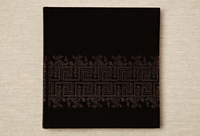 "13"" Greek Floral Photo Album, Chocolate"