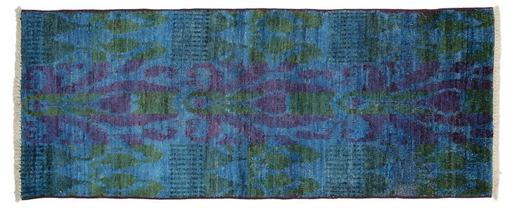 "2'5""x6'2"" Kiefer Runner, Blue/Green"