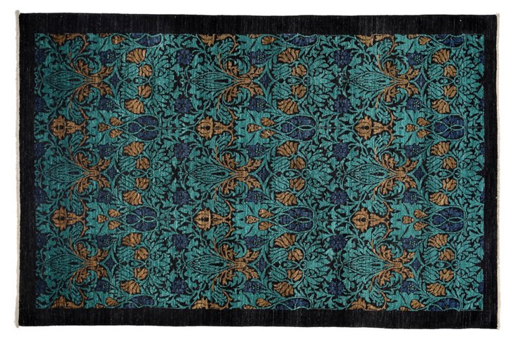 Ember Rug, Turquoise/Aqua