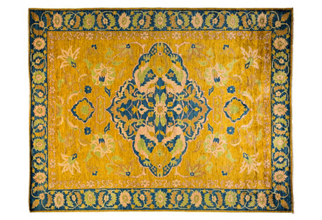 9'x12' Caspar Rug, Yellow