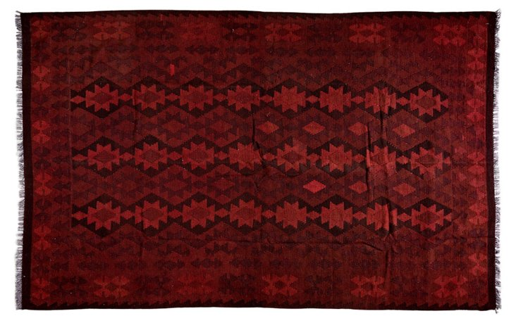 """6'7""""x9'1"""" Loulou Rug, Red"""