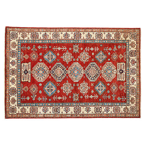 """4'10""""x7'3"""" Bronco Rug, Red"""