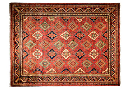 9'x12' Amour Rug, Red