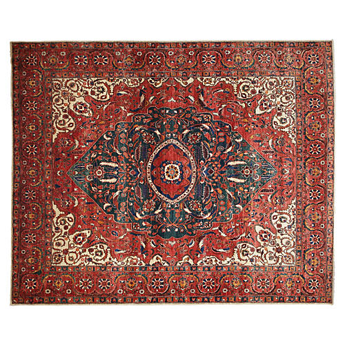 """8'1""""x9'1"""" Eauze Rug, Red"""