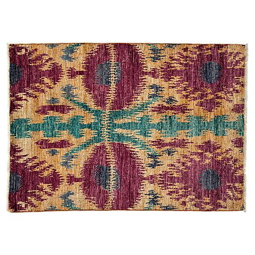 "4'x5'9"" Handmade Rug, Purple"