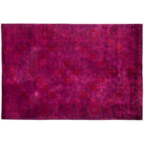 """6'3""""x9' Colby Oriental Rug, Pink/Purple"""