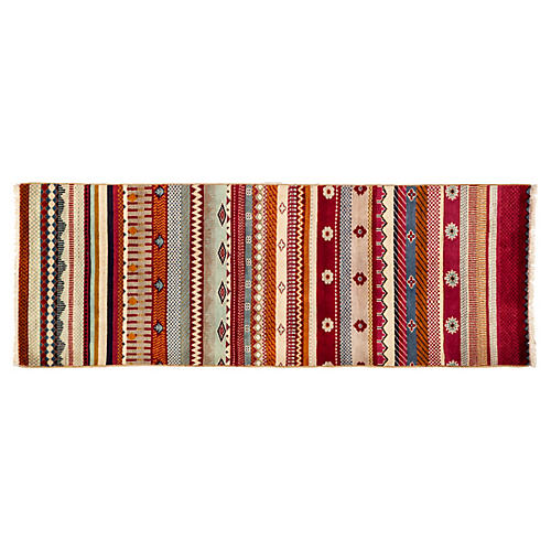 "2'1""x6' Lori Runner, Red/Multi"