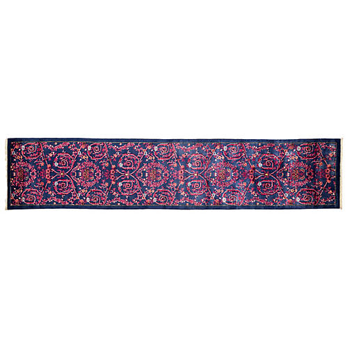 "2'6""x12'1"" Eclectic Runner, Purple"