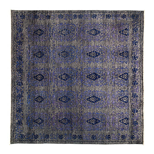"8'1""x8'1"" Eclectic Rug, Purple"