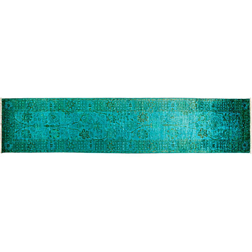 "3'x13'10"" Vibrance Runner, Green/Blue"