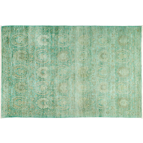 "6'x9'2"" Vibrance Rug, Green/Turquoise"