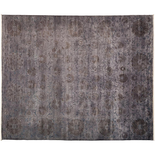 "8'2""x9'10"" Vibrance Rug, Gray/Purple"