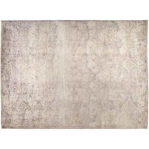 "8'10""x11'10"" Vibrance Rug, Ivory/Gray"