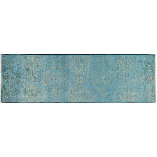 """3'2""""x10'1"""" Vibrance Runner, Blue/Turquoise"""