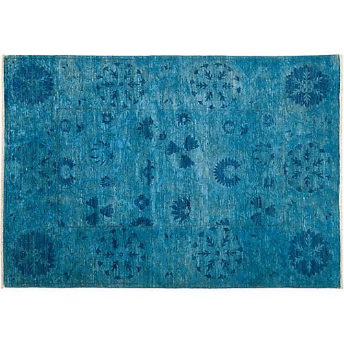 "5'1""x7'9"" Suzani Rug, Multi/Blue"