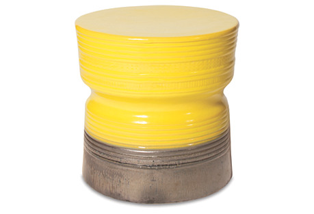Zurich Ceramic Stool, Yellow