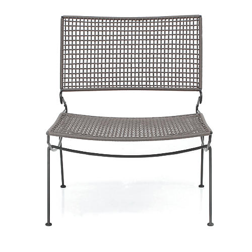 Precision Outdoor Accent Chair, Gray Sunbrella