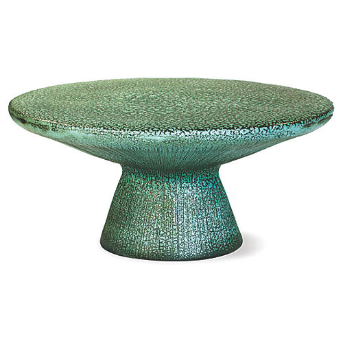 Kavis Outdoor Coffee Table, Frost