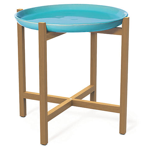 Ibis Outdoor Side Table, Aqua Marine