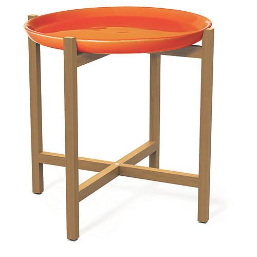 Ibis Outdoor Side Table, Orange