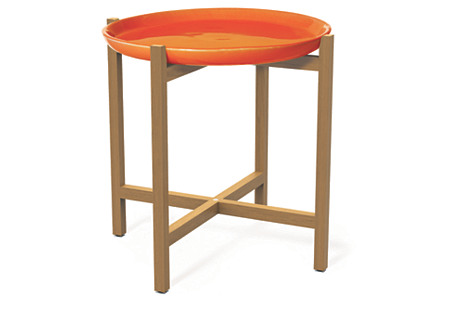 Ibis Outdoor Side Table, Orange
