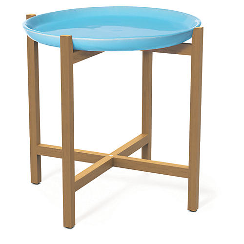 Ibis Outdoor Side Table, Turquoise