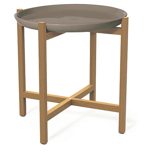 Ibis Outdoor Side Table, Taupe