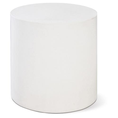 Bill Concrete Side Table, Pearl