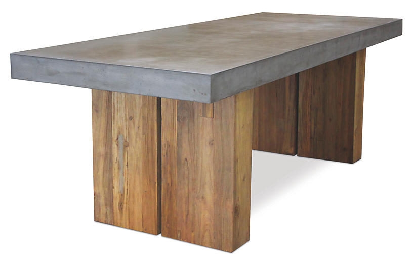 Olympus Concrete Dining Table, Gray