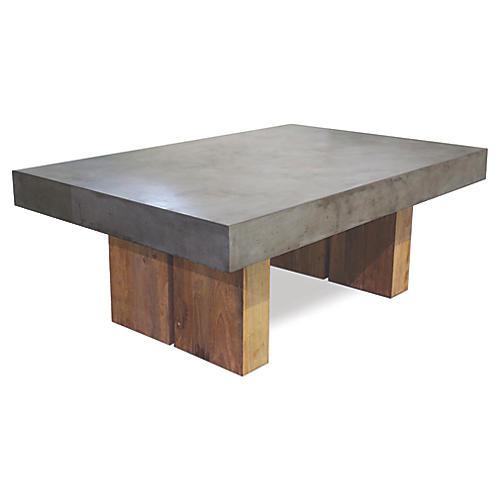 Samos Concrete Coffee Table, Gray