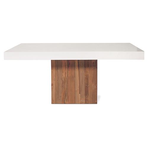 Sparta Concrete Coffee Table, Pearl