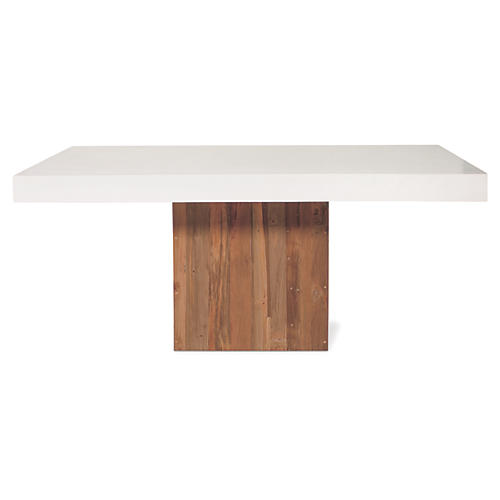 Sparta Concrete Coffee Table, Pearl