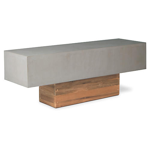 Urban Concrete Bench, Gray