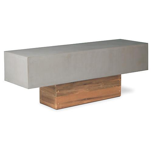 Urban Concrete Bench, Gray