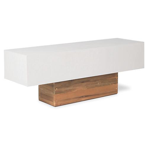 Urban Concrete Bench, Pearl